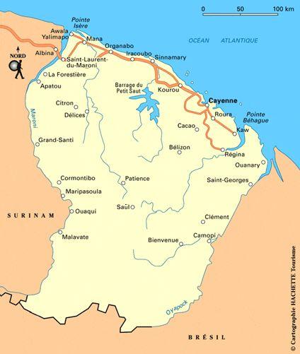 Carte Guyane - Plan Guyane