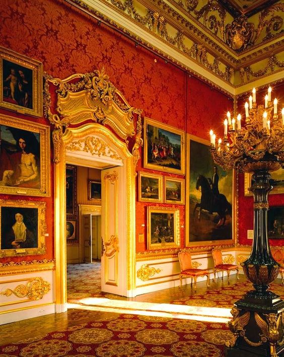 -Apsley House, London Gorgeous Sevres porcelain & the Duke of Wellington's spoils of war called Number One London at Hyde Park
