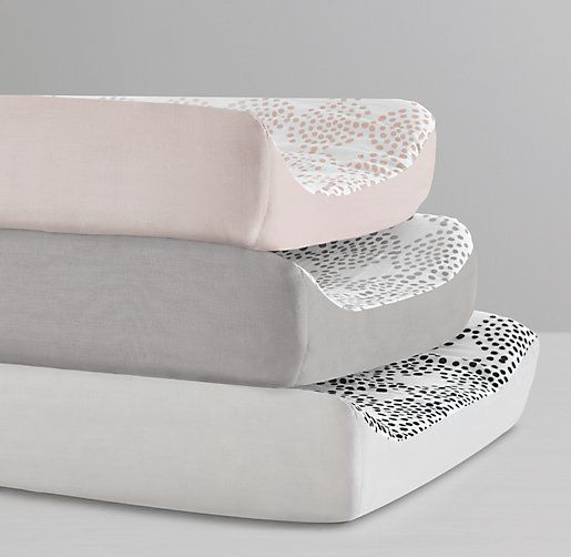 Organic Cotton Dotted Circles Changing Pad Cover
