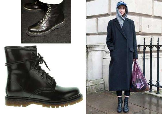 Este invierno, la pasarela recupera todo un clásico de la calle, la bota militar con cordones y suel... - Propia