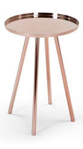 The Alana Bedside Table in Copper. Perfectly compliments many colour schemes and styles, adding a rosy glow to the room. £79 | MADE.COM