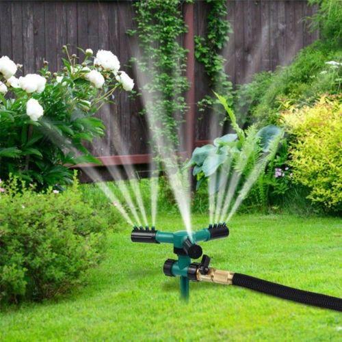 Adjustable Garden Spike Lawn Grass Hose 360 Degree Water Impulse