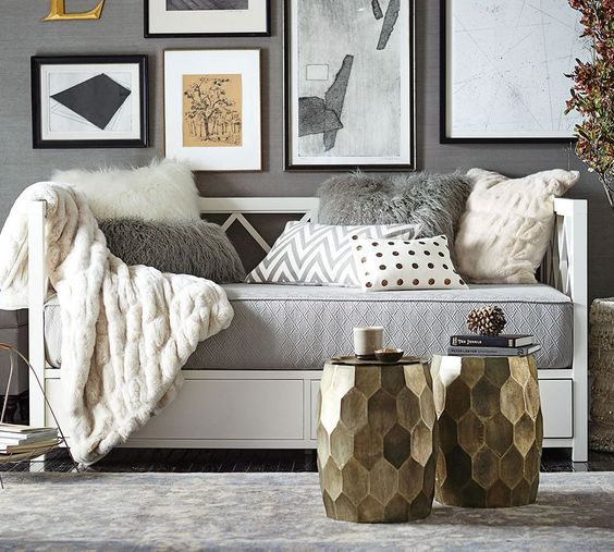 Sofa Alternatives Clara Lattice Storage Daybed | Pottery Barn