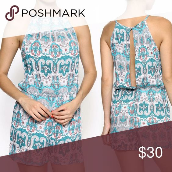 ❗️LAST ONE❗️Paisley Print Romper Gorgeous colorful romper with paisley print and keyhole back. Brand new! Soft and perfect for creating effortless yet chic outfits. Boutique Pants Jumpsuits & Rompers