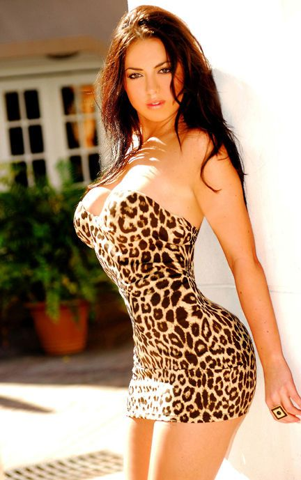 Leopard Breast Lovely Women sexy