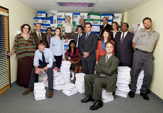 "The Office<<< that awkward moment when Angela is the tallest XD and I love how Phillis has her hand on the doorknob like "" get me out of this hell hole."""