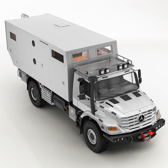 Mercedes zetros home 3d model mercedes zetros motorhome for Mercedes benz zetros 6x6 expedition vehicle