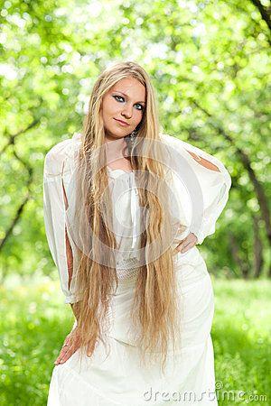 Girl with long hair by Melektaus83, via Dreamstime