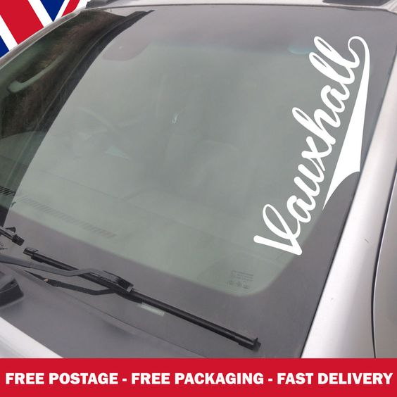 Vauxhall Windscreen Sticker Corsa Vectra Astra Opel Custom Decals - Car windshield decals customcustom window decals