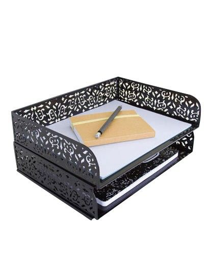 Brocade Stacking Letter Tray / $18 / Dormify