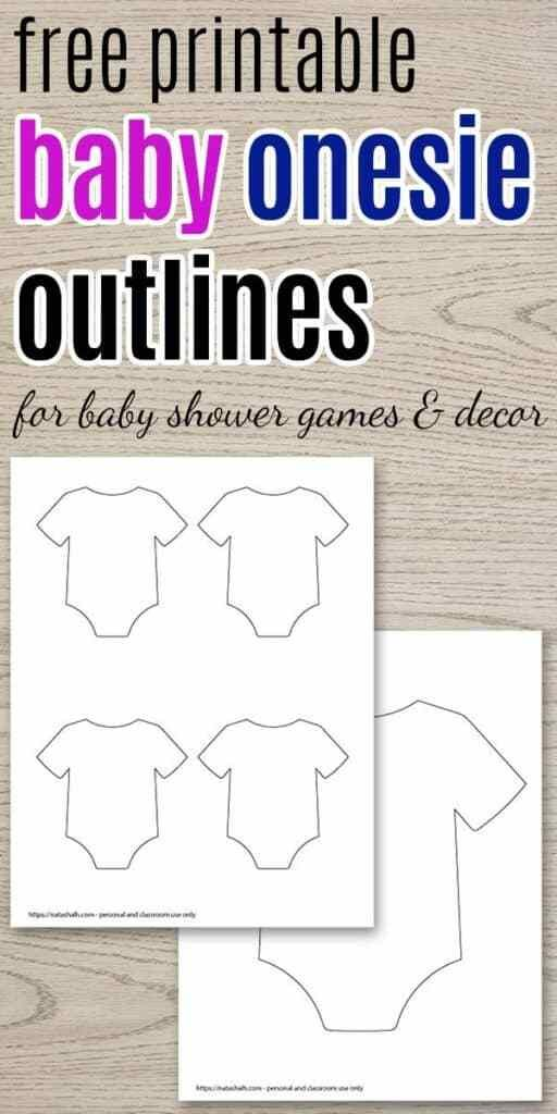 9 Free Printable Baby Onesie Outline Templates Free Baby Shower Printables Baby Onesie Template Onesie Baby Shower Invitations