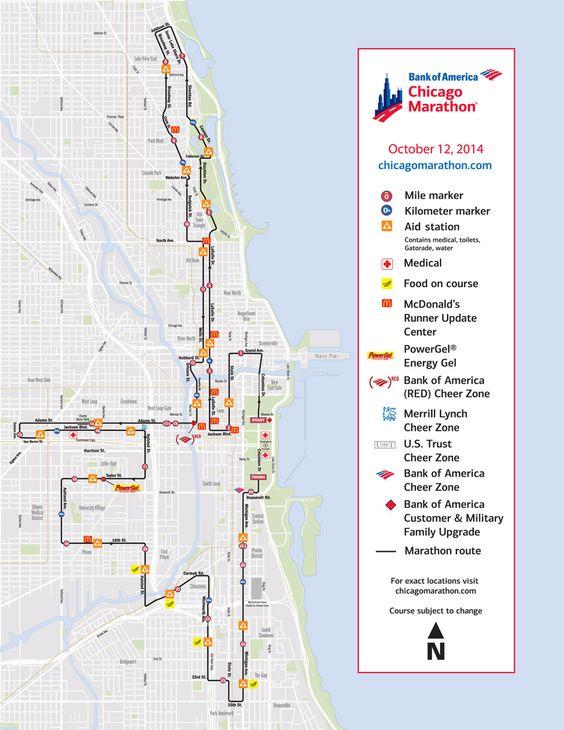 Chicago Marathon course The Marathon Its Happening