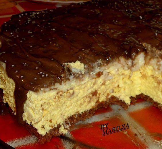 Torta Mousse de Chocolate, Maracujá e Coco