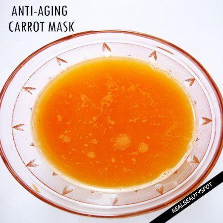 DIY ANTI-AGING CARROT MASK