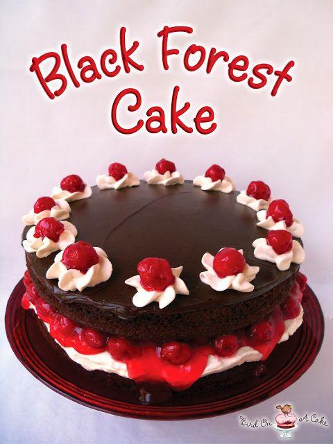 Pájaro en pastel de la ONU: el pastel de Bosque Negro estafa ganache de chocolate de