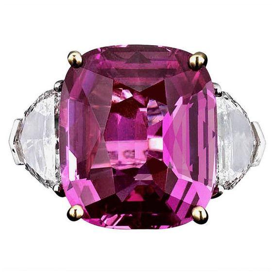 Bubblegum Pink Sapphire Ring 16.37 carats  1