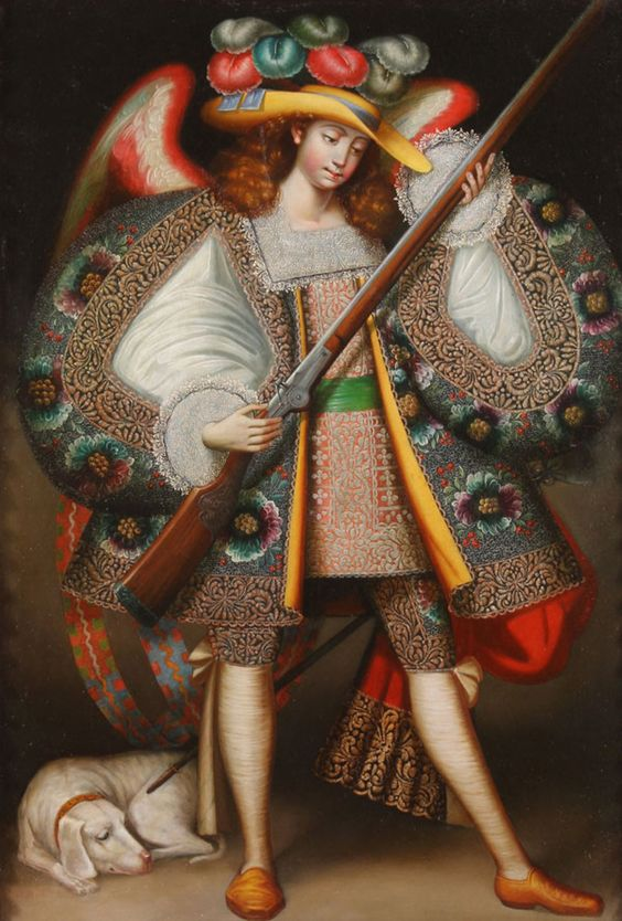 Baroque rifle-wielding Peruvian angels of the 17th century