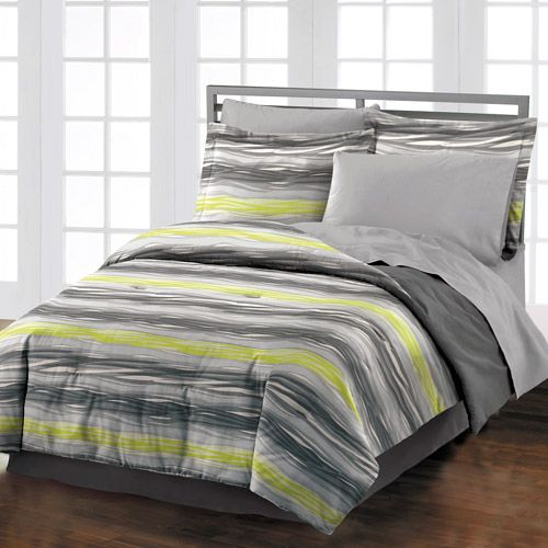 green and grey bedding style lounge motion comforter set gray lime