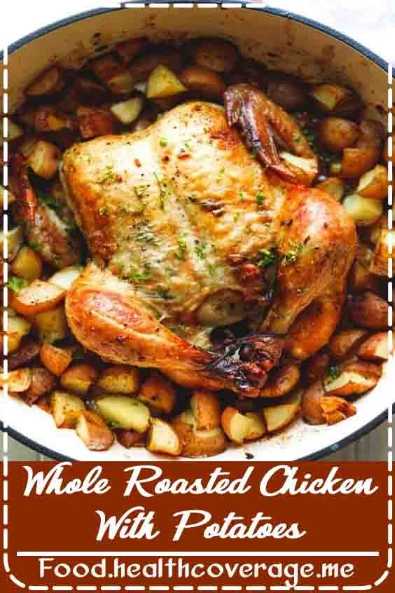 Whole Roasted Chicken With Potatoes Recipe Whole Chicken Recipes Oven Oven Chicken Recipes Oven Roasted Chicken