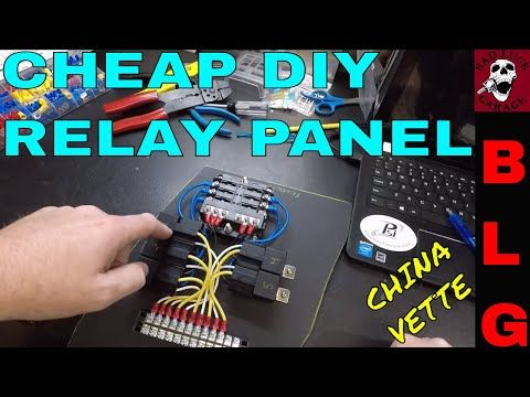 How To Build A Relay Panel Youtube Relay Paneling Cheap Diy