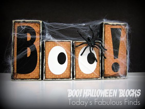 Today's Fabulous Finds: Boo! Halloween Blocks {Printable Letters}