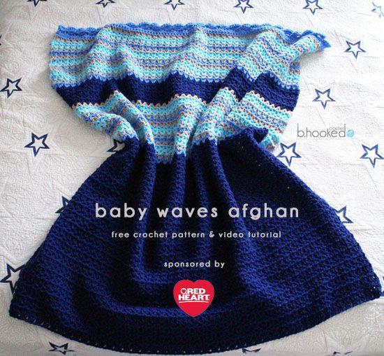 Crochet Baby Waves Afghan - Free Pattern & Tutorial | Ganchillo para ...