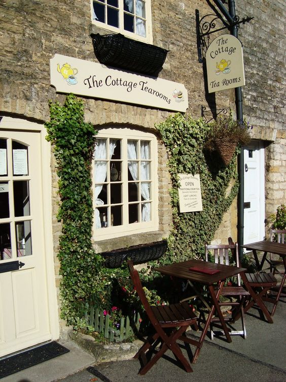 Cottage Tea Room, The Cotswolds, England - How quaint and such a stereotypical english country side tea room.