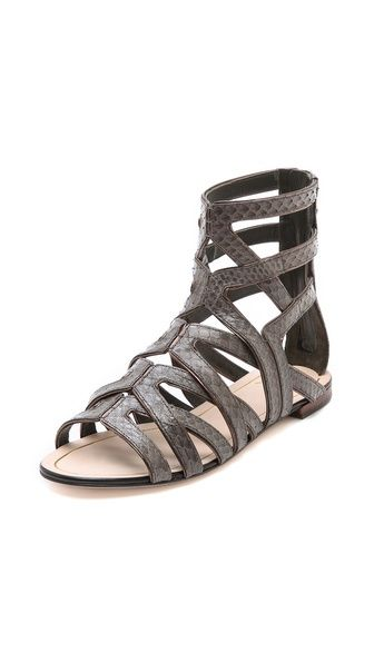 B Brian Atwood Alcarra Strappy Flat Sandals