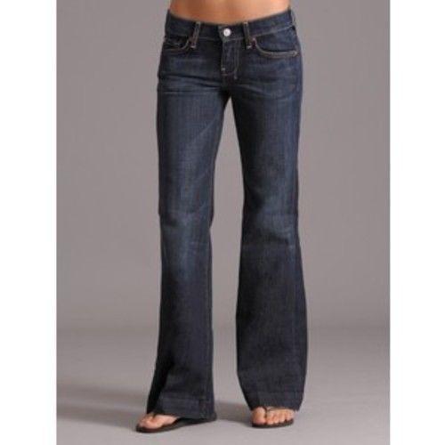 Women's 7 For All Mankind Dojo Wide Leg Stretch Denim Jeans Blue 32 #7ForAllMankind #WideLeg