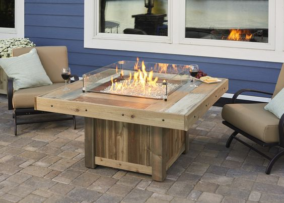Vintage Fire Pit Table from Wissota Outdoor Living!