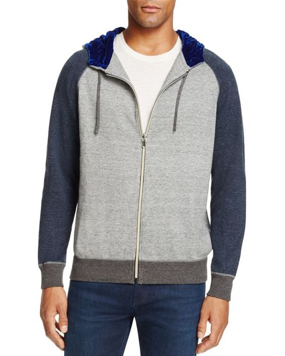 Robert Graham Fabian Color Block Zip Hoodie