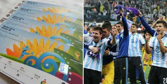 ¿Cuánto cuestan las entradas para la final Argentina-Alemania? http://www.diarioveloz.com/c127489