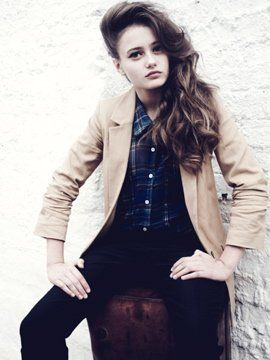Ella Purnell is photographed for Flaunt Magazine on October 20, 2010 in London, England. Photo by Jessie Craig.