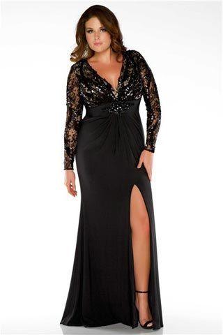 Vestido preto para convidada de festa de casamento gordinha: