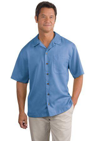Men&-39-s resort wear poly blend short sleeve dress shirt with Bible ...