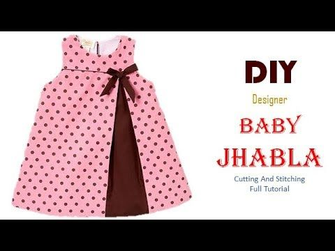 Diy Simple Jhabla Frock For 6 Month Baby Girl Full Tutorial Youtube Baby Frock Pattern Kids Frocks Design Baby Frocks Designs