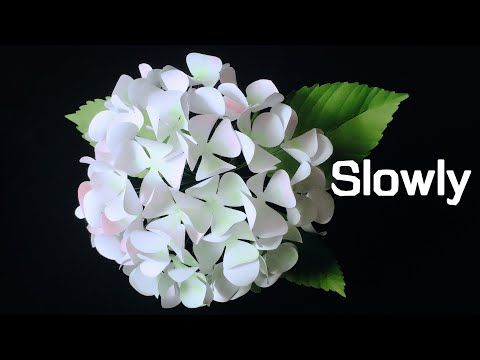 Abc Tv How To Make Hydrangea Flower From Printer Paper 2 Slowly Craft Tutorial Youtube In 2020 Paper Flowers Tissue Paper Flowers Making Tissue Paper Flowers