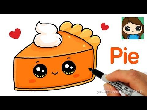 How To Draw Cute Candy Corn Easy Cartoon Food Youtube With