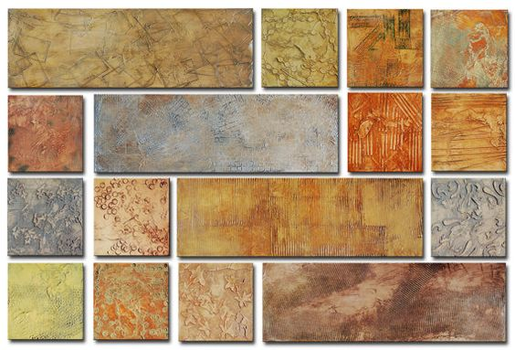 Acrílico original pintura abstracta pintura textural 9 por Andrada