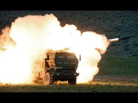 US military Rocket Launcher system live fire exercise