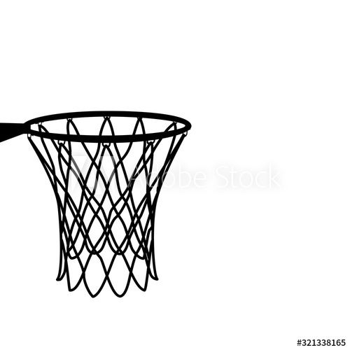 Basketball Basket Basketball Hoop Basketball Net Basketball Vector Illustratin Sponsored Basketball Basket In 2020 Basketball Net Basketball Hoop Basketball