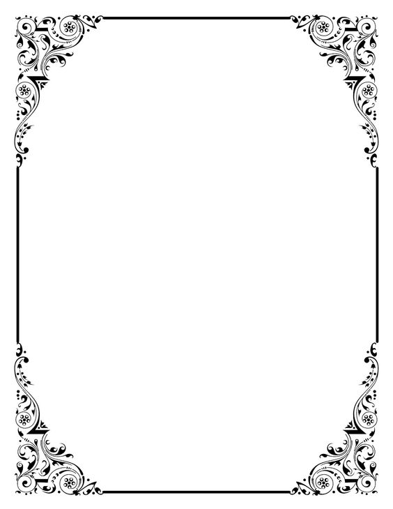 Vintage Graphic Frame - Scrolly and Pretty Marcos, Bordado y - border template for word