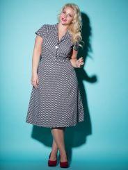 Buttoned Polka Dot Dress, so cute
