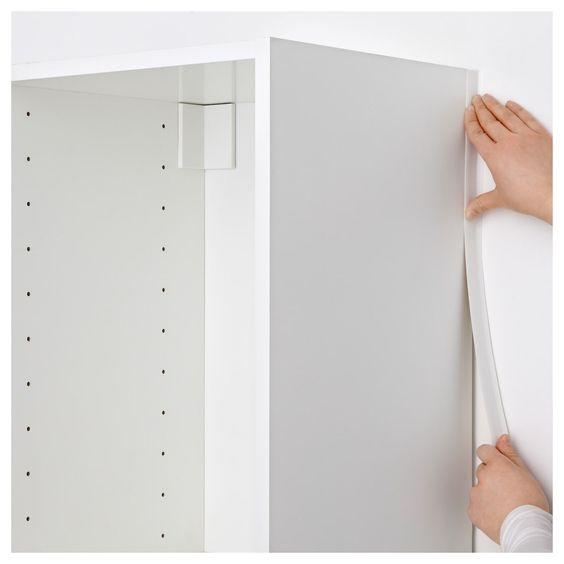 Metod White Cover Strip Vertical Ikea In 2020 Ikea Kitchen Fittings White