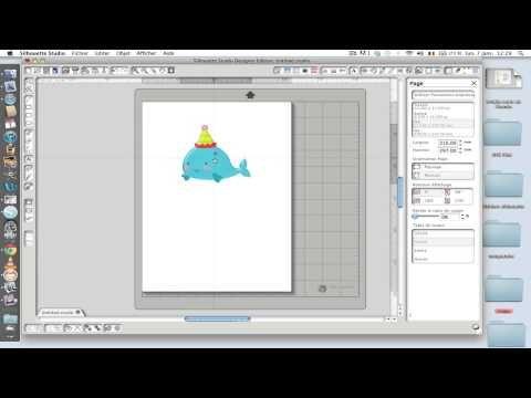 ▶ découper avec la silhouette une image importée du Net - YouTube