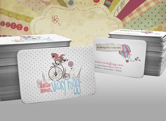 Bussiness cards. Tarjetas de visita. Logo. Logotype. La Vuelta al Mundo de Vicky Fogg on Behance