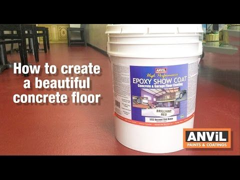 How To Apply Epoxy Coating To Concrete Floors Youtube Concrete Floors Epoxy Coating Concrete