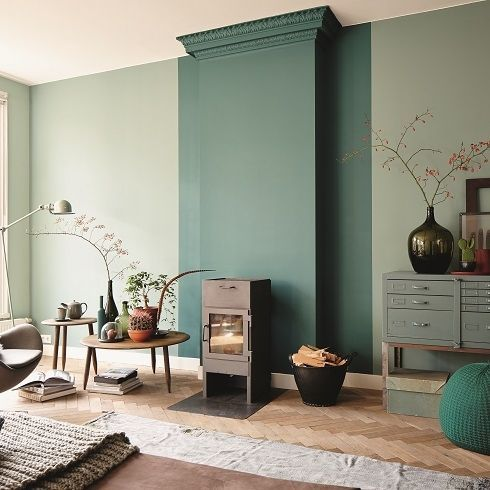 Pinterest   The world s catalog of ideas Green styling  Voor meer inspiratie  westwing me shopthelook. Green Living Room Walls. Home Design Ideas