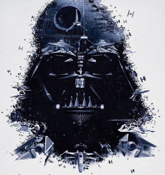 Darth Vader - made of everything Star Wars, beautiful details.