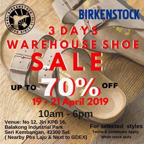19-21 Apr 2019: Birkenstock Warehouse